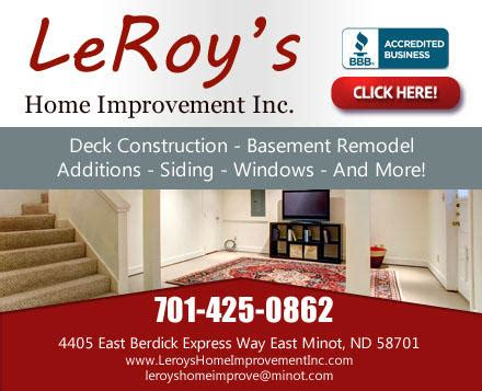 leroy s home improvement inc in minot nd 58701 citysearch