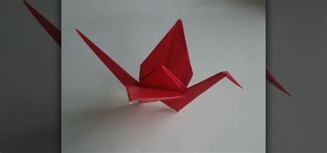 A Paper Crane - how to make a paper crane out of origami paper 171 origami