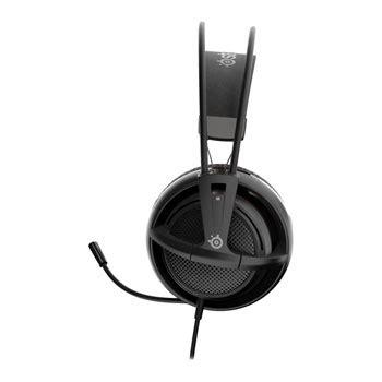 Headset Gaming Steelseries Headset Siberia 200 Black siberia 200 steelseries stereo pc mac console black gaming headset 3 5mm ln68346 51133 scan uk