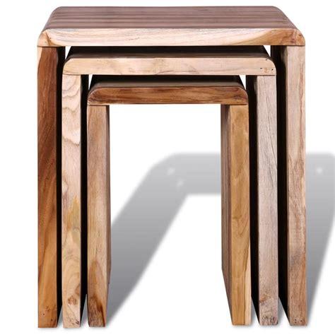 3 nesting tables nesting tables reclaimed teak set of 3 vidaxl co uk