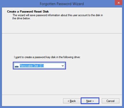 windows vista password reset disk error how to create a windows 8 8 1 password reset disk