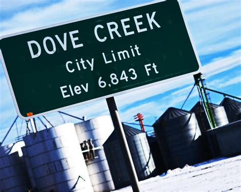 Dove Creek Apartments Tn Dove Creek Co City Limit Sign Located On Hwy 491 Photo