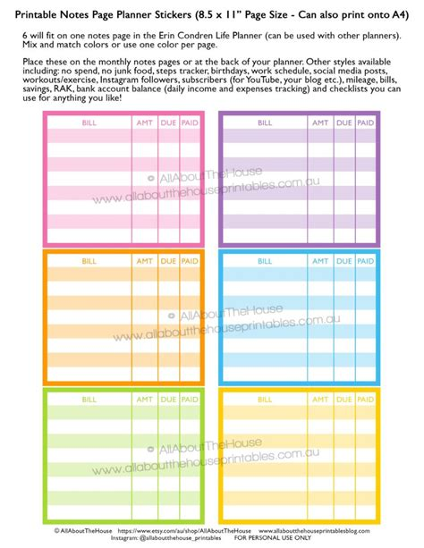 happy healthy life printable planner how to use the monthly notes pages of your planner