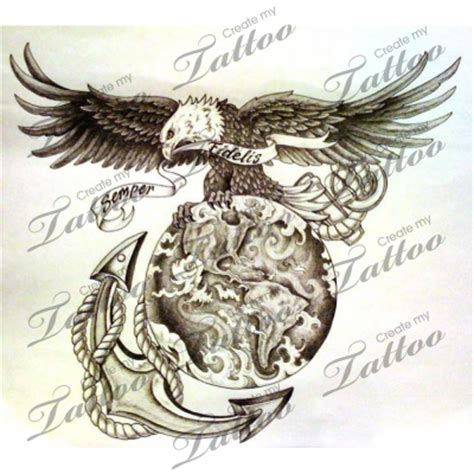 eagle globe anchor tattoos tattoo collection