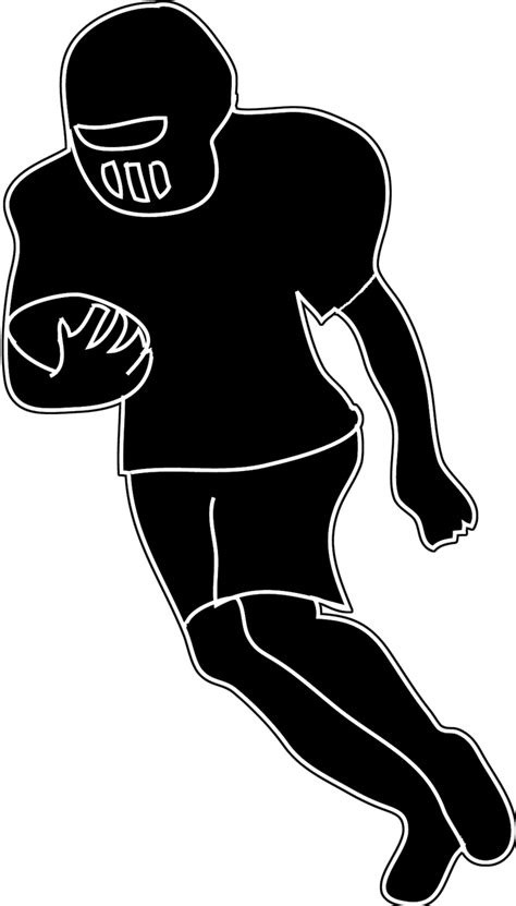 football player clip football players silhouette clipart 61