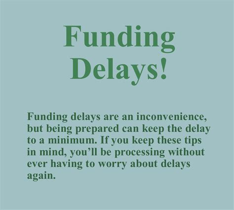 Mba Advice Delay Payment tips for preventing funding delays payment processing news