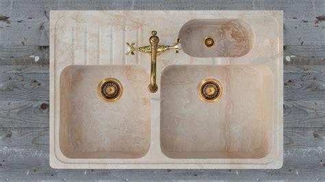 lavello travertino lavello in travertino quot acquaio triplo quot pietre di rapolano