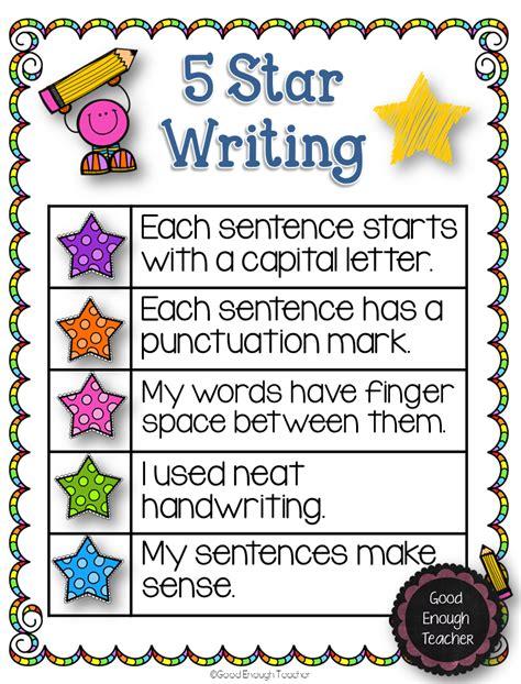 printable narrative poster good enough teacher 5 star writing a freebie