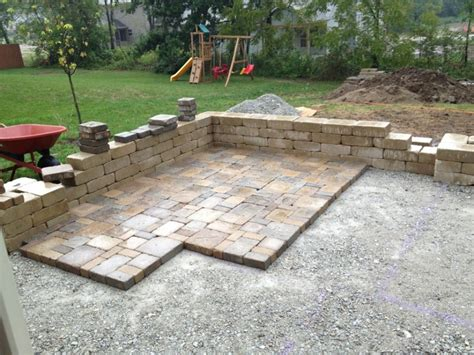 Diy Patio Designs Patio Made With Pavers Diy Patio With Pavers Diy Paver Patio Ideas Interior Designs