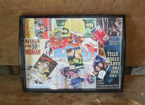 How To Decoupage Photos Onto Wood - wood tray decoupage home decor box 07 vintage cut outs serving