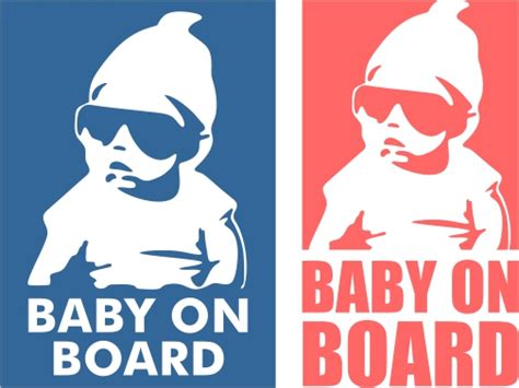 Christmas Designs baby on board cuttable design