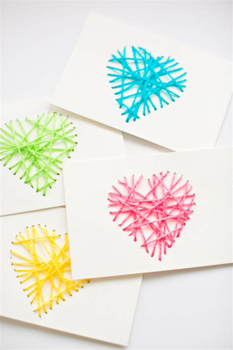 String Cards - make string yarn cards