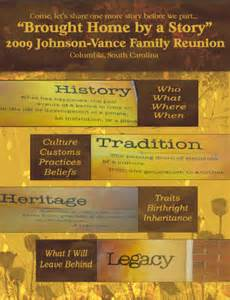 family reunion booklet sle the legacy reunion ideas