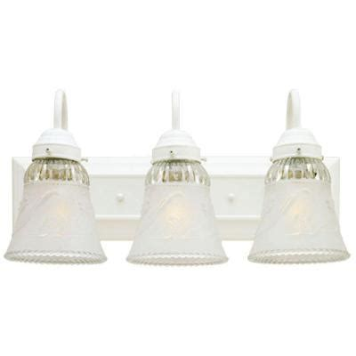 westinghouse 3 light interior white wall fixture with