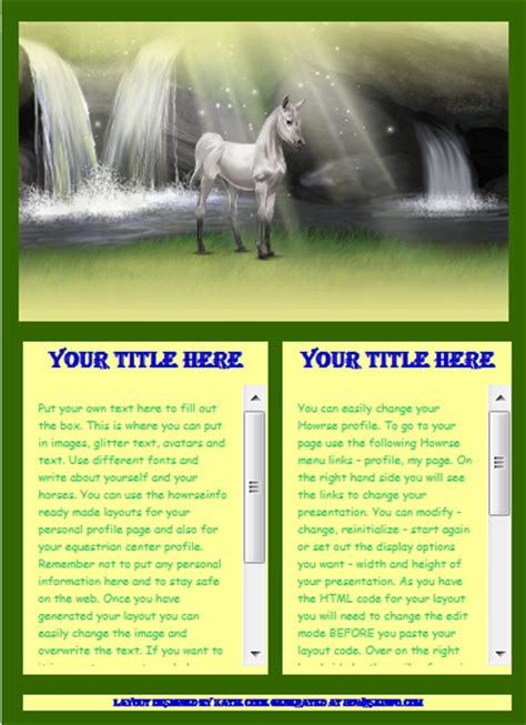 layout maker howrse free layout generator menu