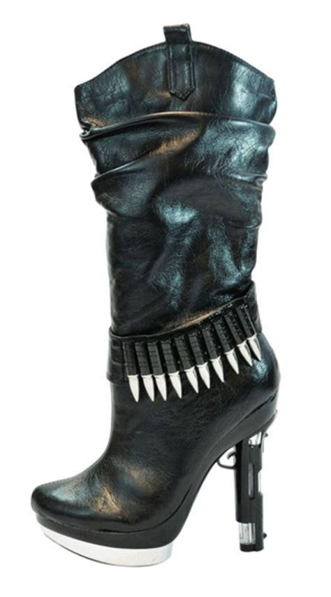 Piero Shoes Gunt Boot handgun heel boot gun boot gun heel boots