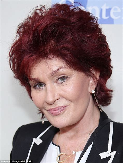 recent sharon osbourne hairstyle 2014 sharon osbourne 2014 hairstyle on the talk short