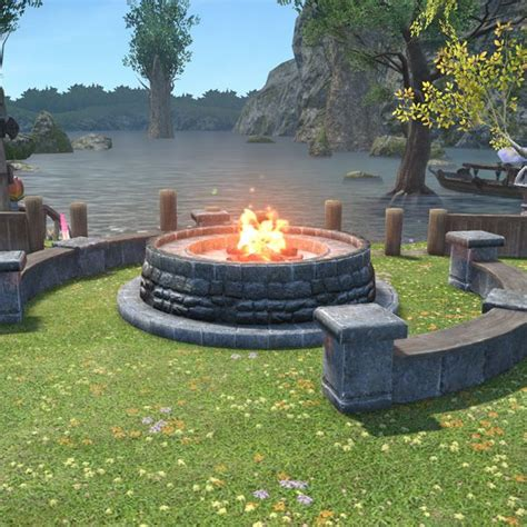 Home Interior Wall Pictures Cold Knight S Cookfire Ffxiv Housing Outdoor Furnishing