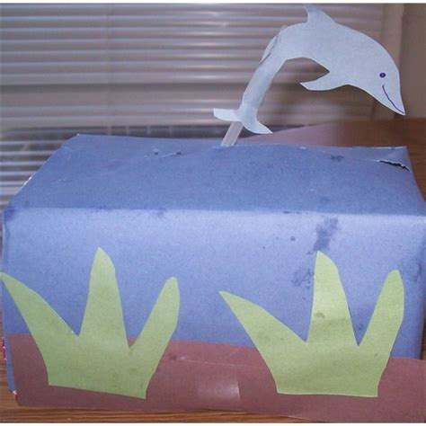 Dolphin Papercraft - dolphin crafts for preschool