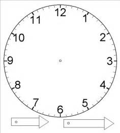 Clock Template by Template For Clock With Moveable Hour And Minute