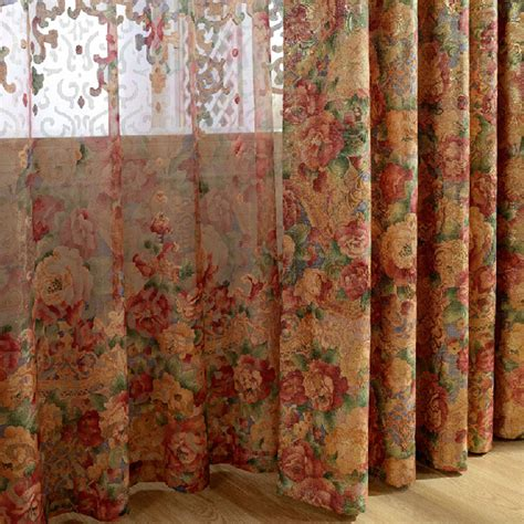 insulated curtain fabric pastoral insulated exquisite jacquard chenille fabric