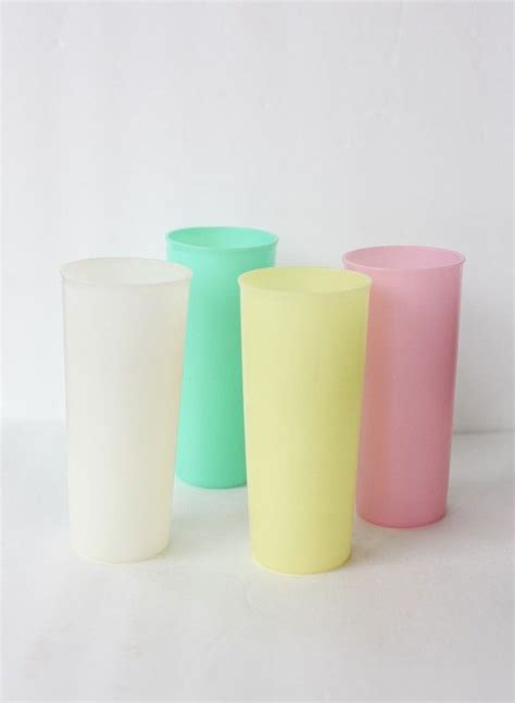 Pretty Pastel Cups Tupperware v i n t a g e tupperware pastel tumblers to be