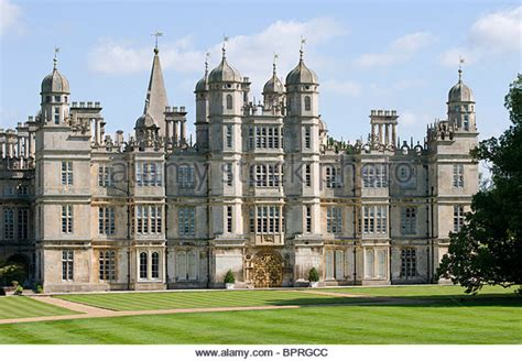Traditional Style House burghley house lincolnshire england stock photo royalty