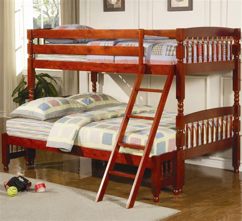 bunk beds full cherry twin over full bunk bed bunk beds