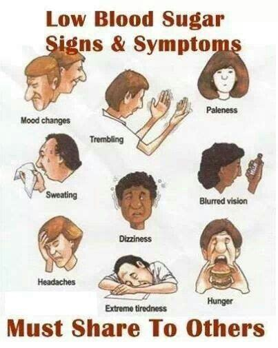 hypoglycemic symptoms paleness trembling tiredness