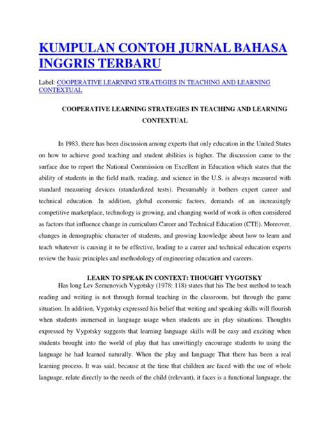 contoh biography b inggris kumpulan contoh jurnal bahasa inggris terbaru teachers