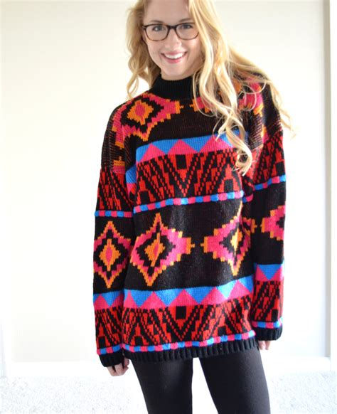 colorful sweaters sale sale vintage croquet club aztec colorful sweater