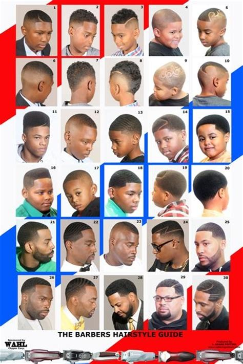 boys hairstyle guide barber poster african american black male 2014bbm