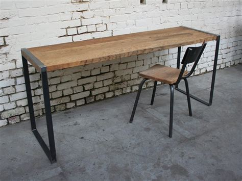 bureau industriel metal et bois bureau b 14 bu001 giani desmet meubles indus bois m 233 tal