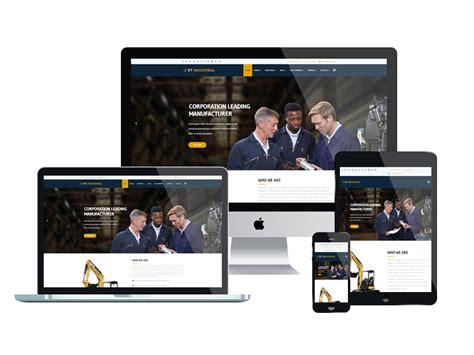 Industrial Responsive Website Templates Free Et Industrial Free Responsive Industrial Joomla Template