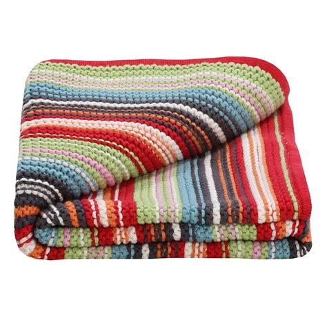 baby blankets unisex multi coloured knitted baby blanket part of our