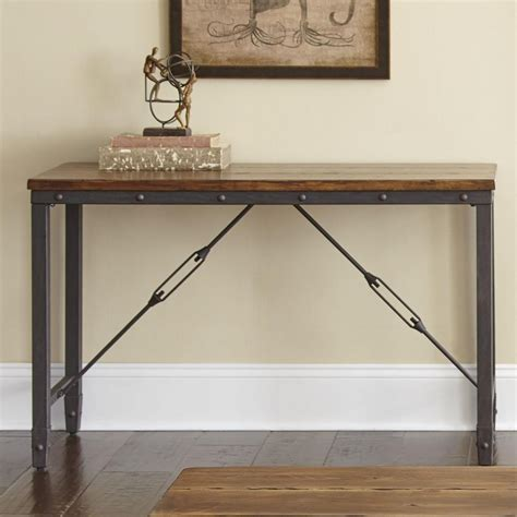 steve silver ashford industrial sofa table with cable