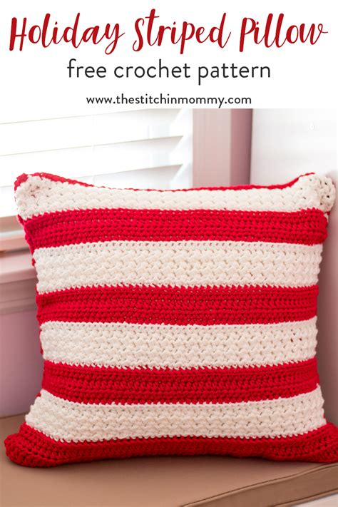 name pillow pattern free holiday striped pillow free crochet pattern the