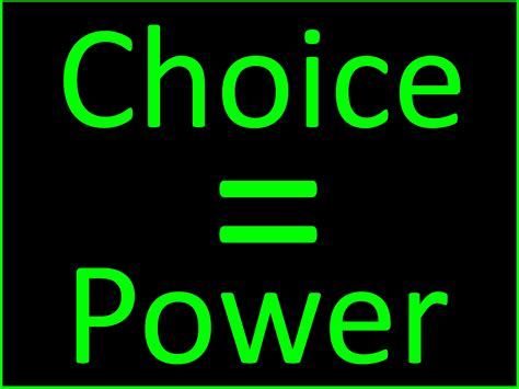 The Power Of power of choice