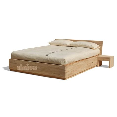 bed in box box bed in solid beech wood with slats shop cinius