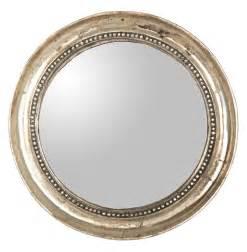 Round Mirror Julian Antique Gold Champagne Small Round Convex Mirror