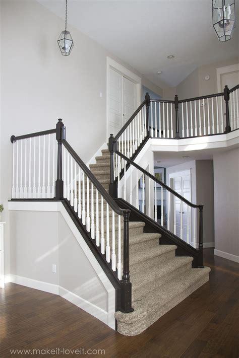 paint stain wood stair railings oak banisters