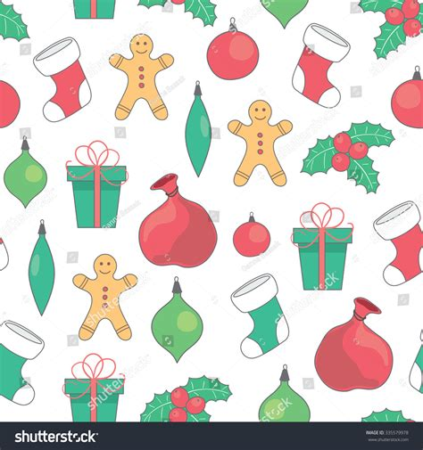 new pattern vector vector seamless christmas new year pattern stock vector