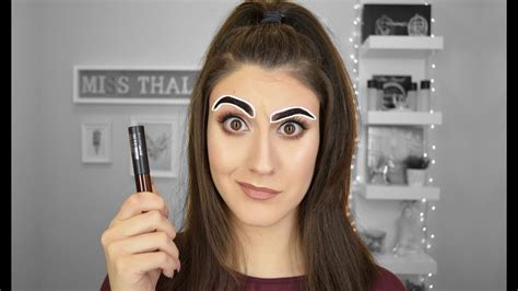 tattoo brow maybelline youtube maybelline tattoo brow first impressions miss thalia
