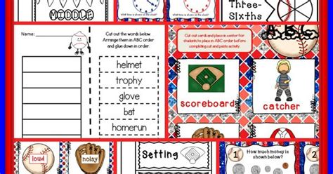 Activities The O Jays And - baseball math and literacy for the primary grades