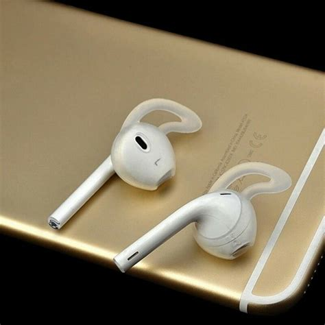 2 pairs silicone earpods earbud cover and ear hook for iphone apple earphones ebay