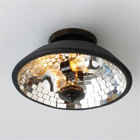 Mosaic Ceiling Light Mosaic Mirror Bowl Ceiling Light Flush Mount Ceiling Lighting By Shades Of Light