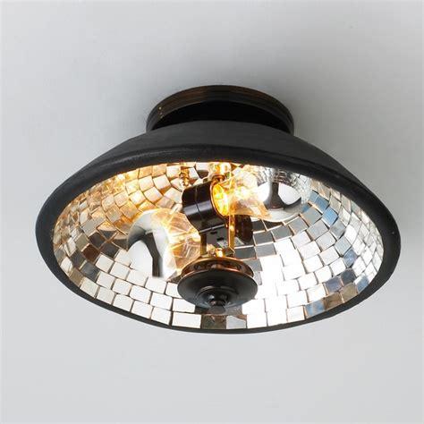 mosaic mirror bowl ceiling light flush mount ceiling