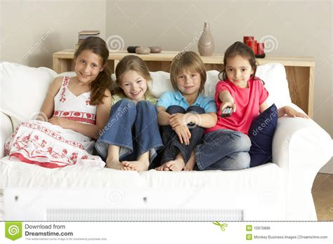 children television at home royalty free