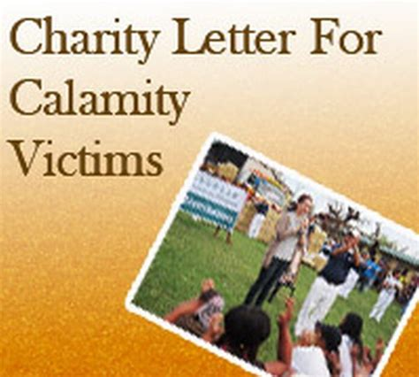 charity letter for treatment corporate charity letter