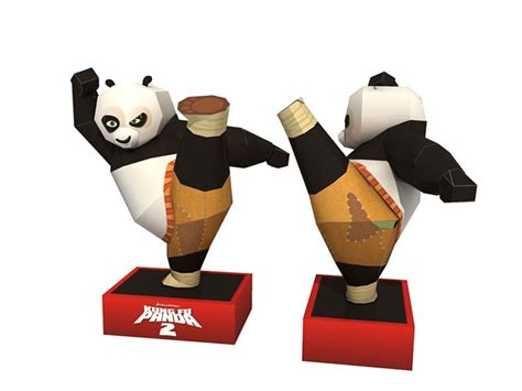paper craft panda papercraft